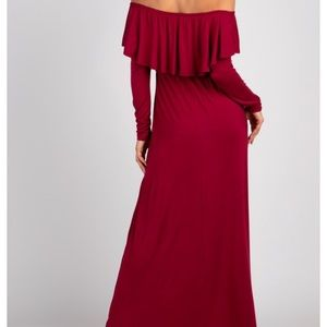 Pinkblush Ruffle Off Shoulder Maxi